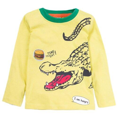Купить Лонгслив KotMarKot размер 116, желтый, Футболки и майки