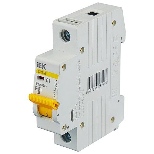 Автоматический выключатель IEK ВА 47-29 1P (C) 4,5kA 1 А автомат iek 3п c 40а ва 47 100