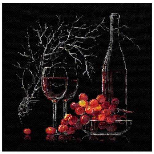 Купить Риолис Набор для вышивания Натюрморт с красным вином 30 х 30 см (1239), Наборы для вышивания