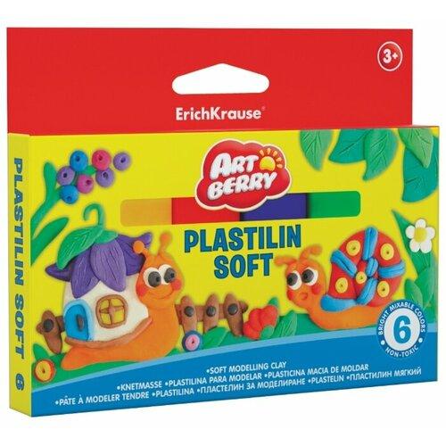 Купить Пластилин ErichKrause Artberry 6 цветов/144г (33300), Пластилин и масса для лепки