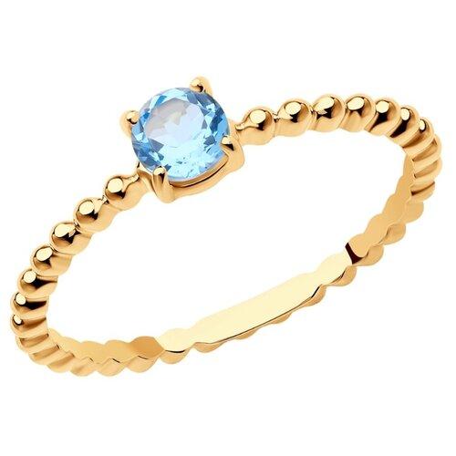 SOKOLOV Кольцо из золота с топазом 716065, размер 17