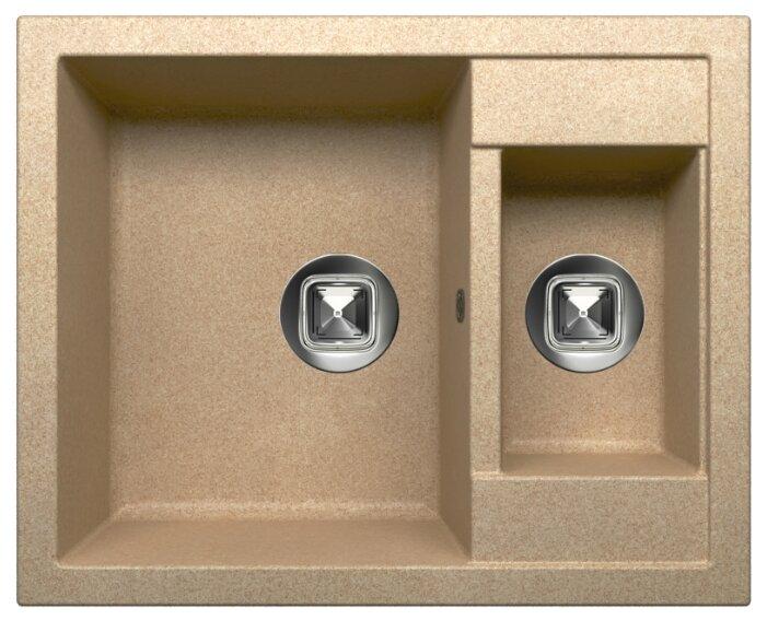 Врезная кухонная мойка Tolero R-109 62.5х50см кварцевый искусственный камень