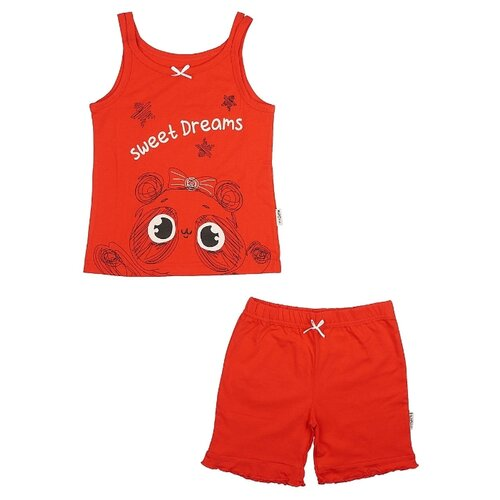 Купить Пижама RuZ Kids размер 122-128, красный, Домашняя одежда