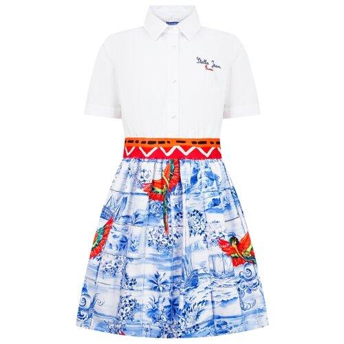 Платье Stella Jean размер 140, белый/синий/красный