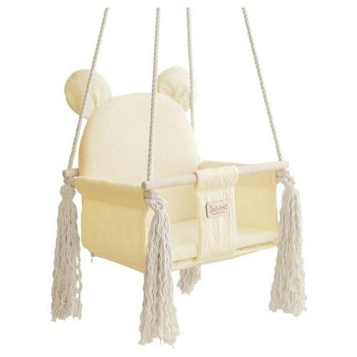 Фото - Качели Leader toys подвесные Sweet Bear, кремовый качели подвесные orion sweet bear цвет ванильный крем 70804