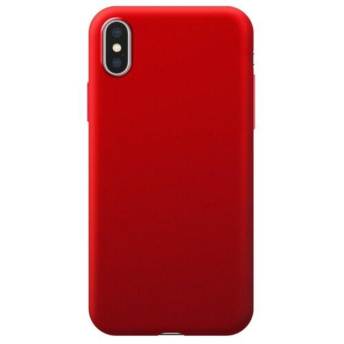 Чехол-накладка Deppa Silk Case для Apple iPhone Xs Max красный металлик чехол накладка deppa gel plus case матовый для apple iphone x xs розовое золото