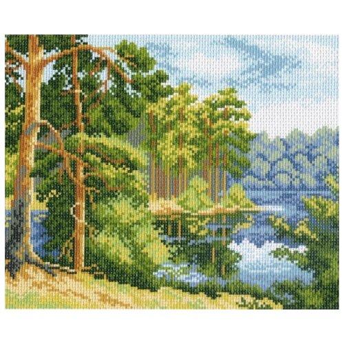 Купить Озеро в лесу Рисунок на канве 28/37 28х37 (20х25) Матренин Посад 0604-1, Матрёнин Посад, Канва
