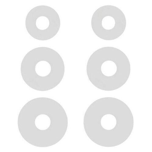 Комплект амбушюр Krutoff для наушников (3 пары размер S M L) белые