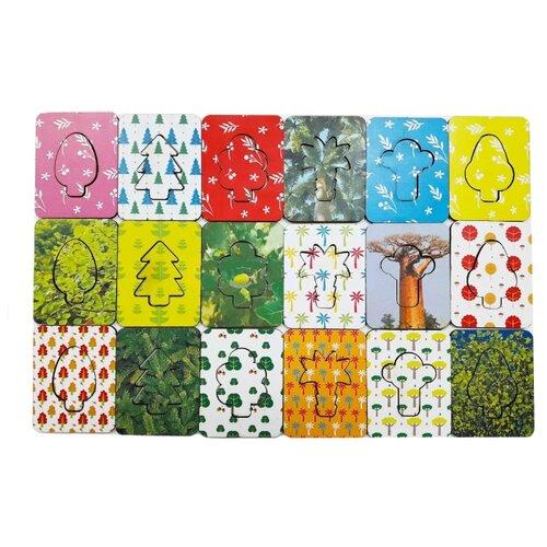 Купить Набор рамок-вкладышей Woodland Доски Сегена Деревья (068201), Пазлы