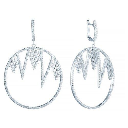 JV Серебряные серьги с фианитом E26891-W-SR-001-WG