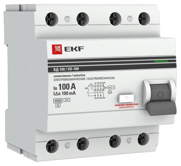 УЗО EKF 100мА тип AC ВД-100 4 полюса