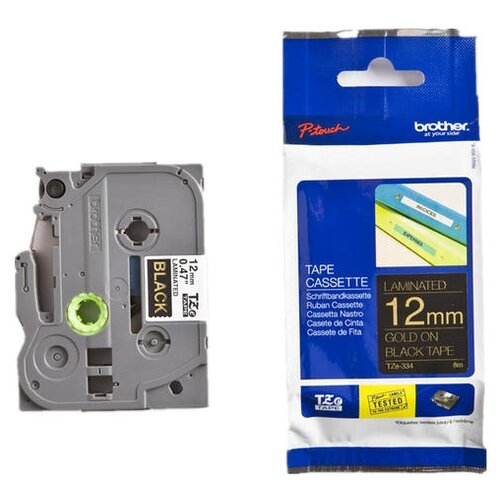 Фото - Картридж для принтера этикеток Brother, арт. TZe-334 (12 мм) картридж для принтера этикеток brother арт tze 253 24 мм