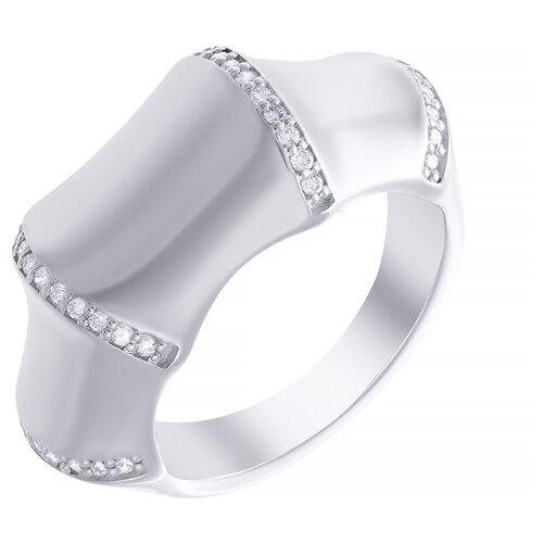 JV Кольцо из белого золота 585 пробы с бриллиантами 4795-WGDW-KO-WG, размер 18