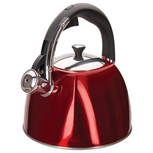 Фото - REGENT inox Чайник со свистком Linea Stendal 93-TEA-SD-01 3 л, красный чайник 2 6 л со свистком regent tea 93 tea 28