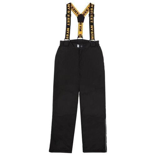Купить Брюки playToday 32011226 размер 140, черный, Полукомбинезоны и брюки