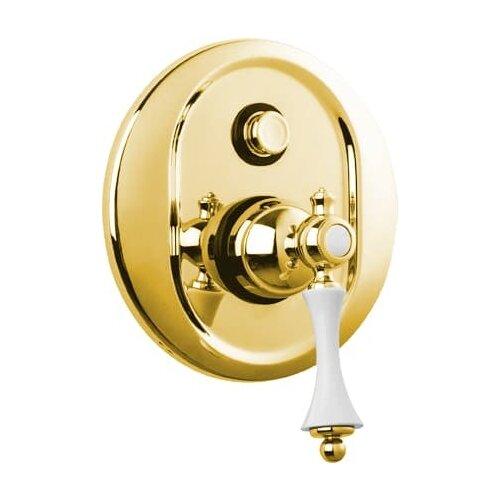 Смеситель для ванны с подключением душа CEZARES Margot VDIM-03/24-Bi золото/белый