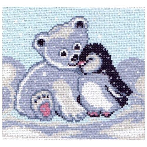 пасхальный сюрприз рисунок на канве 16 20 16х20 13х15 матренин посад 1042 1 Мишка и пингвин Рисунок на канве 16/20 16х20 (15х16) Матренин Посад 0126-1