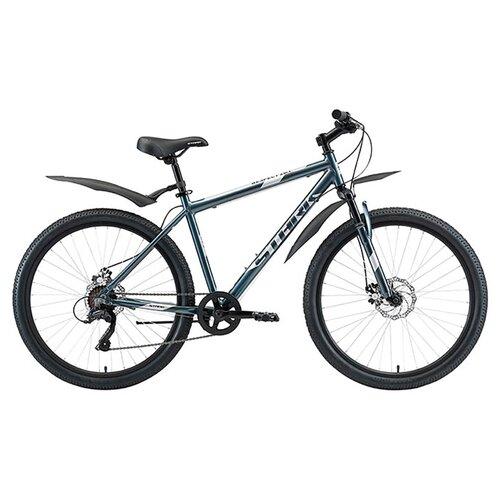 Горный (MTB) велосипед STARK Respect 26.1 D Microshift (2020) синий/серый 20