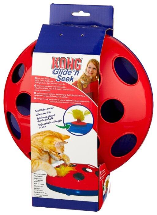 Игрушка для кошек KONG Glide'n'Seek трек на батарейках (CA48)