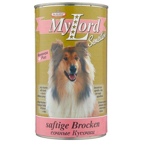 Влажный корм для собак Dr. Alder`s (1.23 кг) 1 шт. МОЙ ЛОРД СЕНСИТИВ ягненок + рис кусочки в желе Для чувствительных собак 1.23 кг недорого