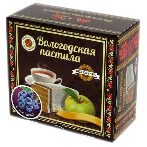 Пастила Вологодская мануфактура с черникой без сахара 115 г