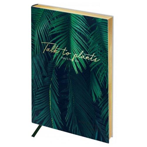 Ежедневник Greenwich Line Vision. Palm leaves недатированный, искусственная кожа, А5, 80 листов, зеленый записная книжка greenwich line vision art искусственная кожа а5 80 листов синий