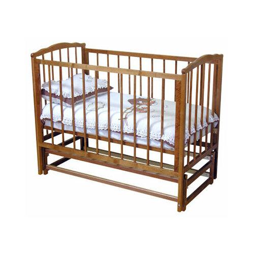 Купить Кроватка Красная Звезда Кристина С619 (классическая), продольный маятник красно-коричневый, Кроватки