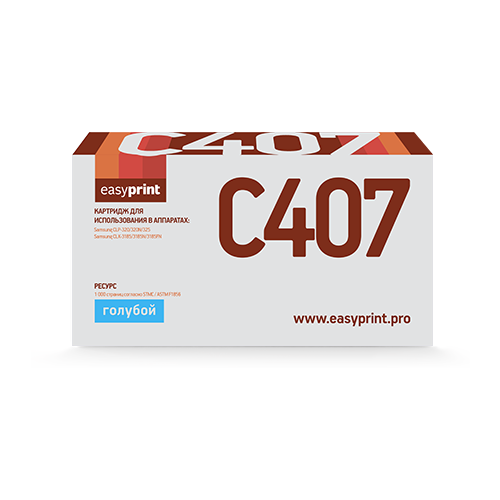 Фото - Картридж EasyPrint LS-C407, совместимый картридж easyprint ls c406 совместимый