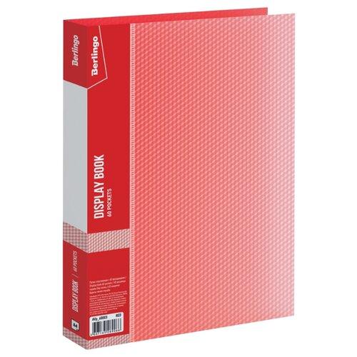Купить Berlingo Папка с 60 вкладышами Diamond A4, пластик 700 мкм красный, Файлы и папки
