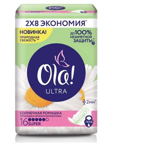 Ola! прокладки Ultra Солнечная ромашка Super Deo 16 шт.