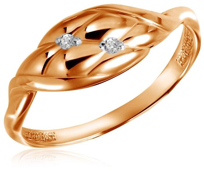 Бронницкий Ювелир Кольцо из красного золота 25600006, размер 16