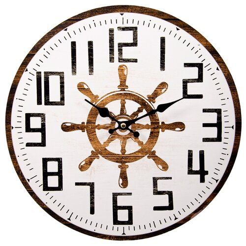 крючки настенные русские подарки крючки настенные помощник повара Часы настенные кварцевые Русские подарки 138638 коричневый