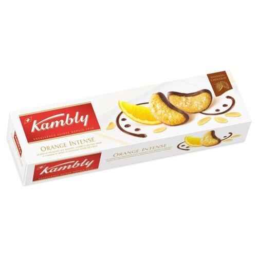 Печенье Kambly Orange Intense миндальное с апельсиновым кремом и шоколадом, 100 г lambertz world cookies munich печенье с шоколадом 100 г