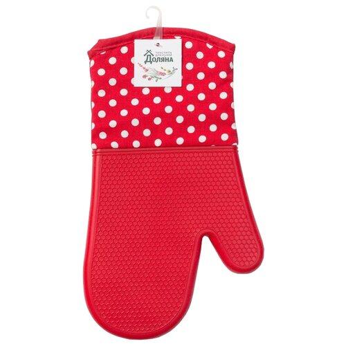 Фото - Рукавица Доляна Профи300 красный рукавица доляна детишки 5148654 белый красный