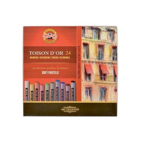 Купить KOH-I-NOOR Пастель сухая Toison D'or 24 цвета, Пастель и мелки