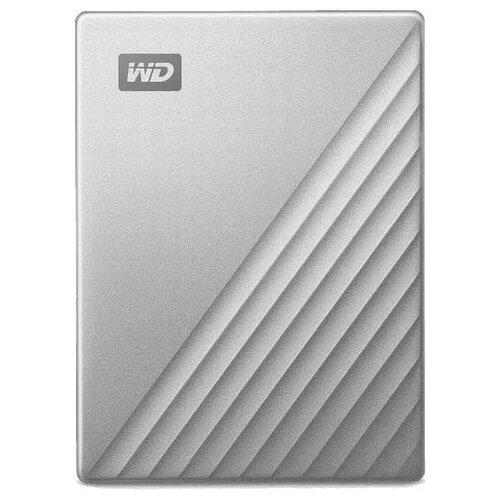 Фото - Внешний HDD Western Digital My Passport Ultra серебристый внешний hdd western digital my passport for mac 4 тб синий