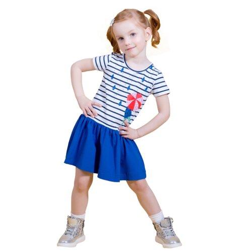 Платье M-Bimbo размер 122, белый/темно-синий m bimbo костюм зимний 350 220гр сирень