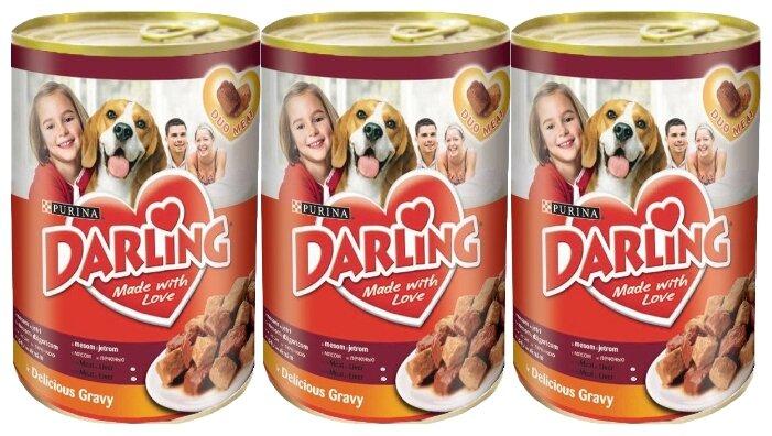 Корм для собак Darling печень 3шт. х 1.2 кг