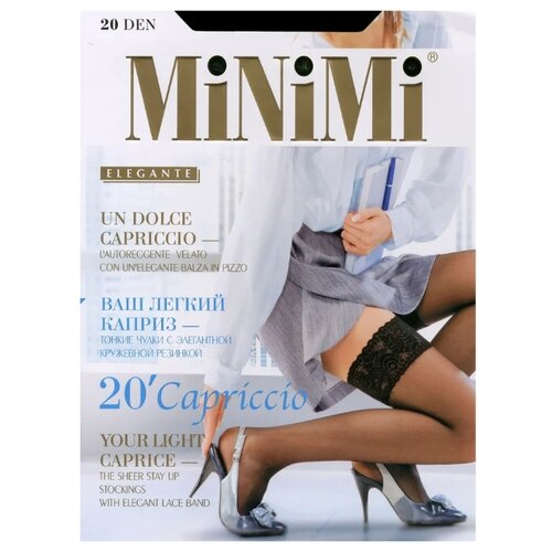 Чулки MiNiMi Capriccio 20 den, размер 4-L, nero чулки minimi