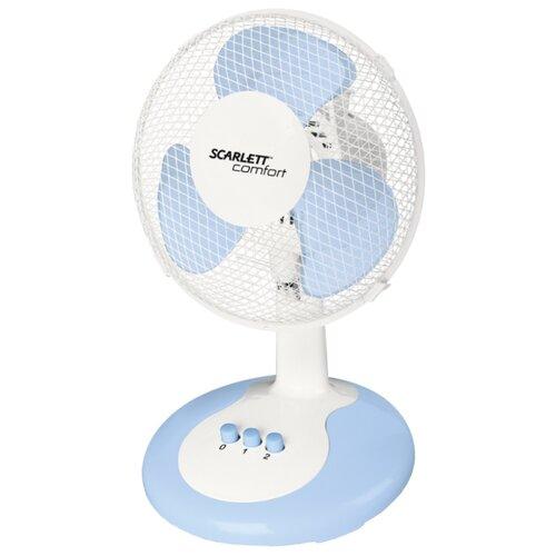 Настольный вентилятор Scarlett SC-DF111S06 белый/голубой