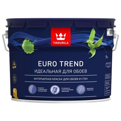 Краска Tikkurila Euro Trend матовая 9 л 1 (A/BW) краска интерьерная tikkurila joker a 9 л