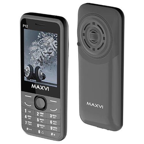 Телефон MAXVI P12 серый  - купить со скидкой