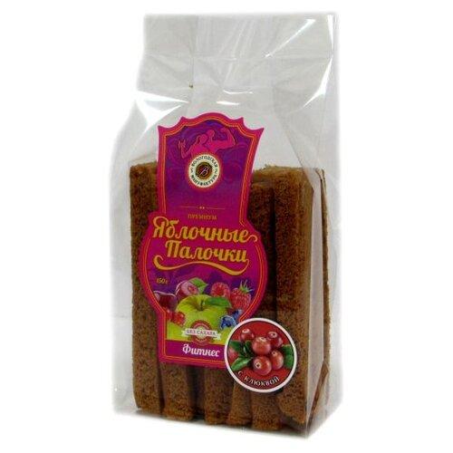 Пастила Вологодская мануфактура Яблочные палочки Фитнес с клюквой без сахара 150 г