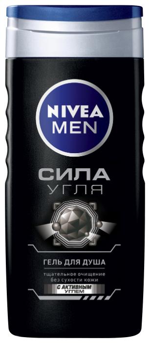 Гель для душа NIVEA MEN 250мл Сила угля