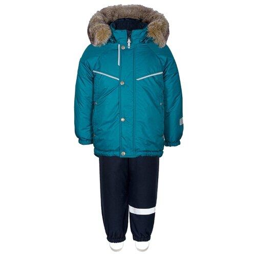 Купить Комплект с полукомбинезоном KISU W19-10202_1004/501 размер 98, 1004 морская волна, Комплекты верхней одежды