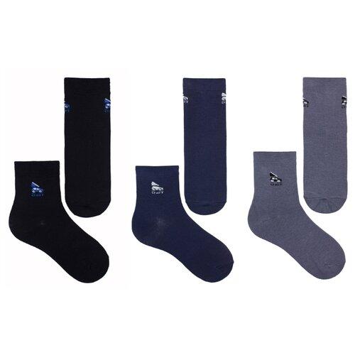 Купить Носки НАШЕ комплект 3 пары размер 20 (18-20), черный/синий/антрацит