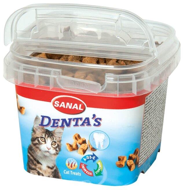 Лакомство для кошек SANAL Denta`s крокеты для ухода за зубами и дёснами, с витаминами A, D, E
