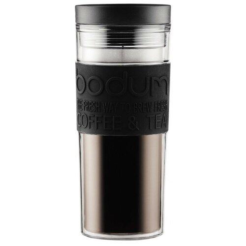 Термокружка Bodum Travel Mug, twist, 0.45 л черный