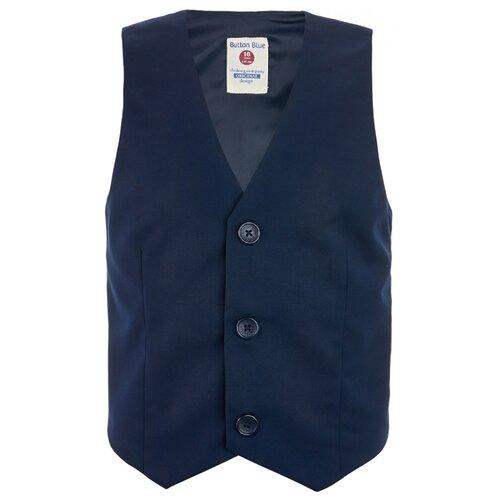Купить Жилет Button Blue размер 128, синий, Жилеты