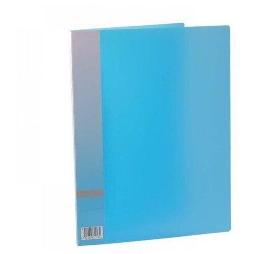 Panta Plast Папка с прижимным механизмом, А4 голубой